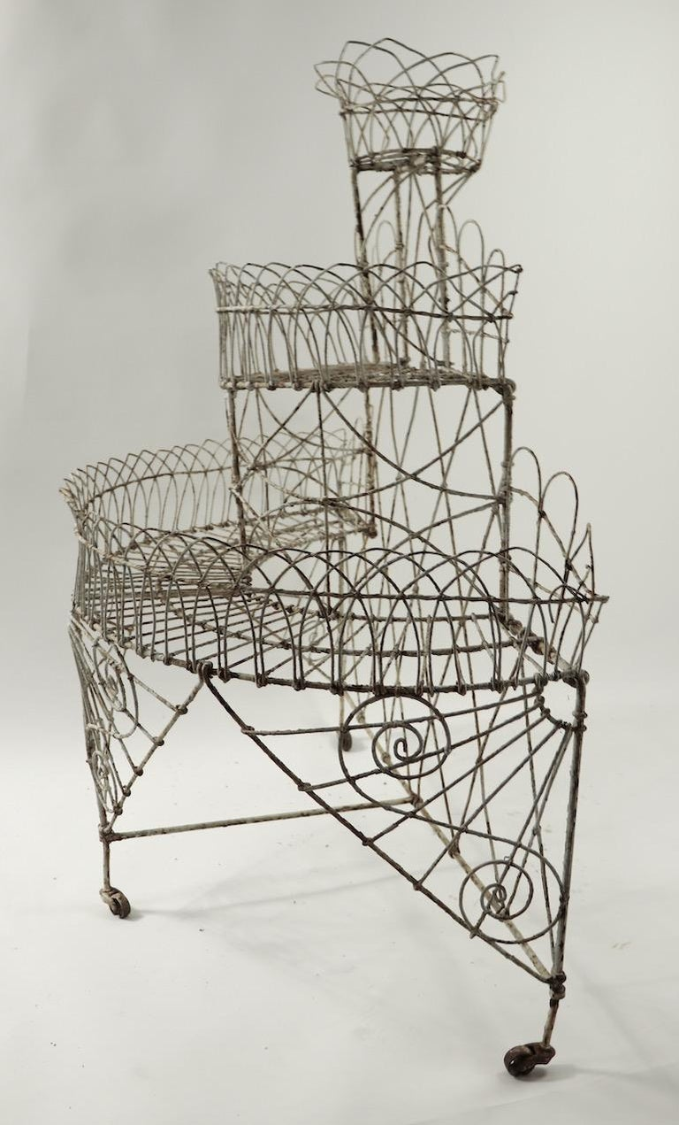Victorian Wire Plant Stand For Sale 7