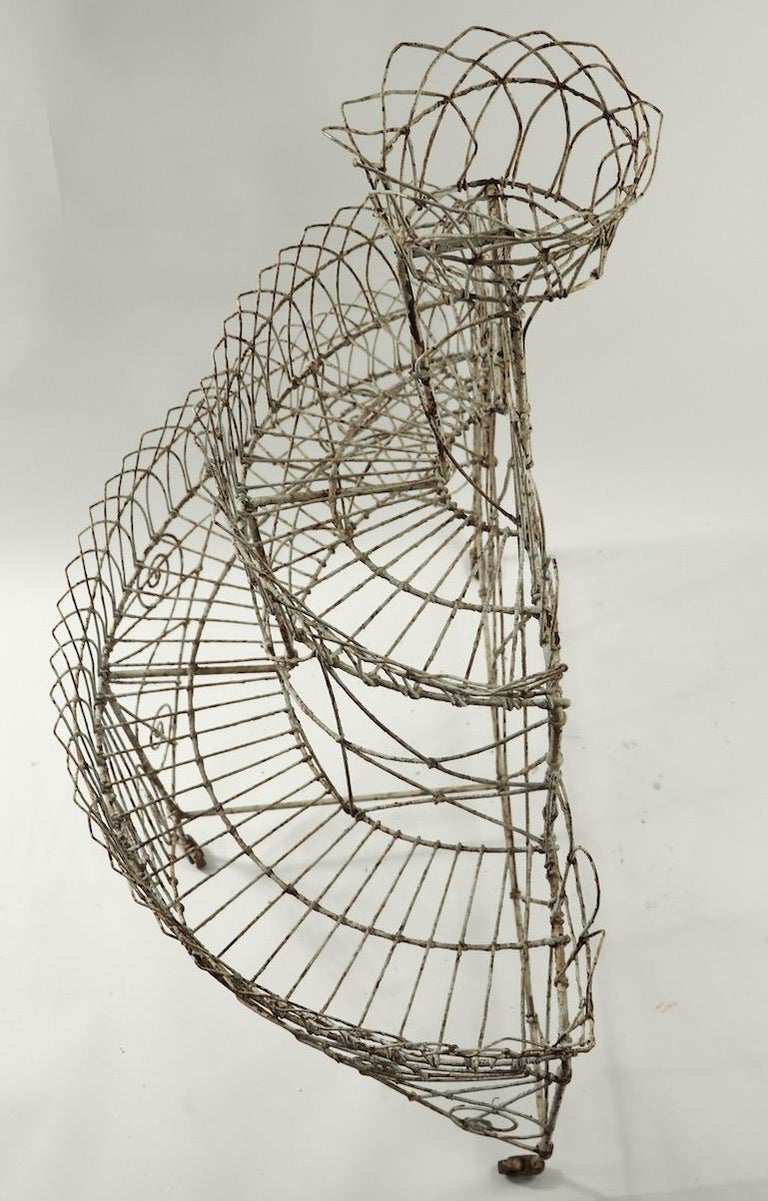Victorian Wire Plant Stand For Sale 8