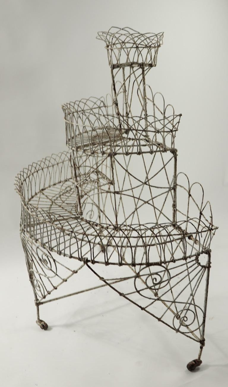 Victorian Wire Plant Stand For Sale 9