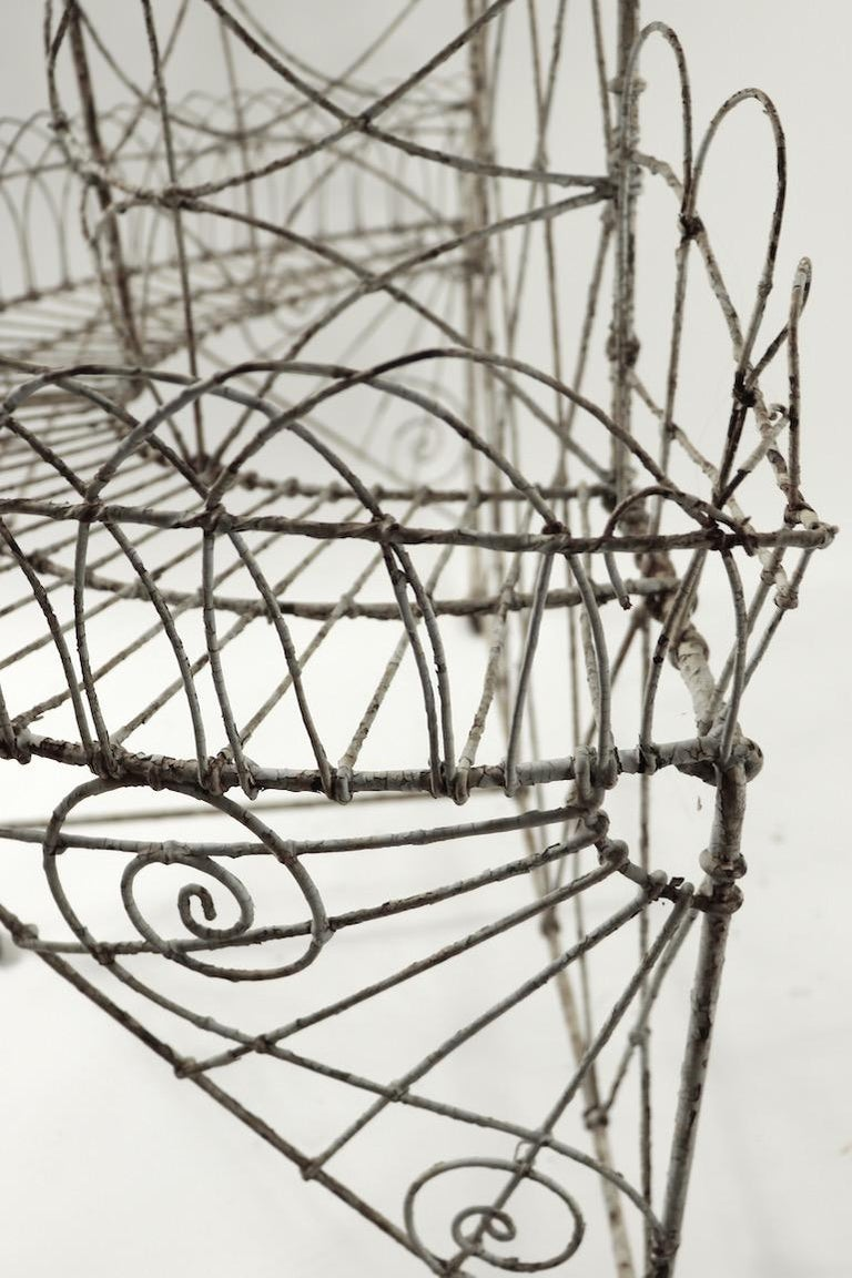 Victorian Wire Plant Stand For Sale 10