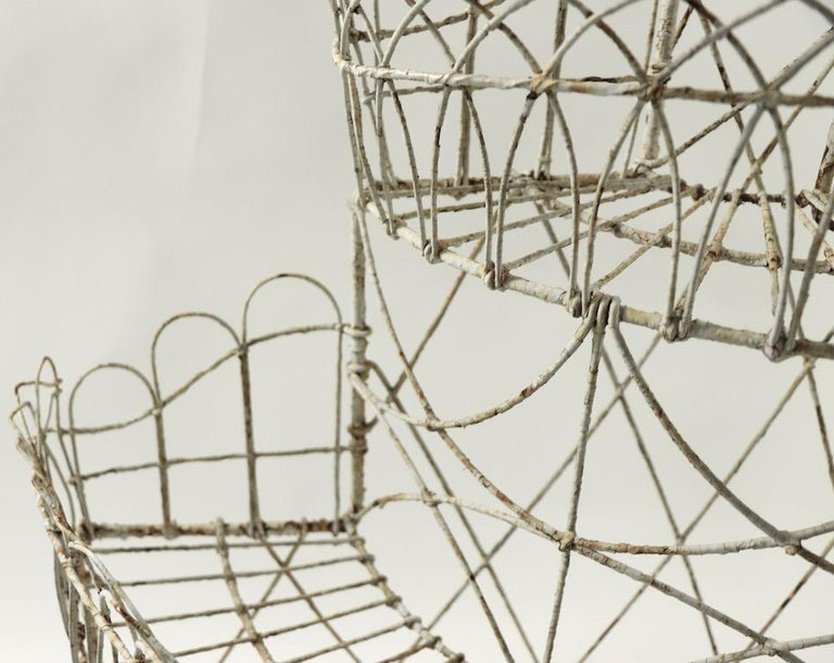 19th Century Victorian Wire Plant Stand For Sale
