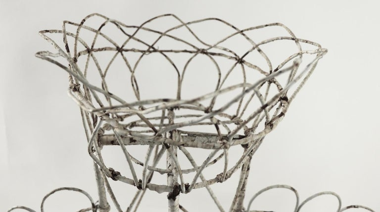 Victorian Wire Plant Stand For Sale 2
