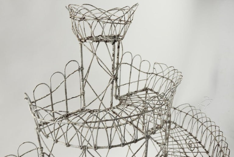 Victorian Wire Plant Stand For Sale 3