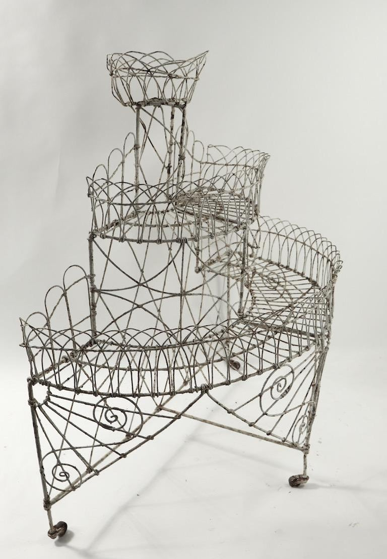 Victorian Wire Plant Stand For Sale 4