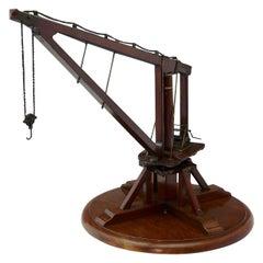 Victorian Wooden Scale Model Crane, circa 1880