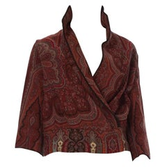 Victorian Wool Paisley Shawl  Made Into A Jacket
