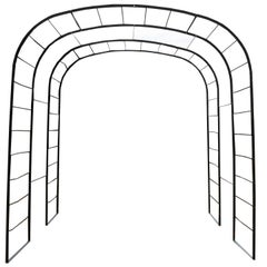 Victorian Wrought Iron Rose Arch Arbour