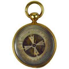 Victorian Yellow Gold Barometer Fob Charm Pendant