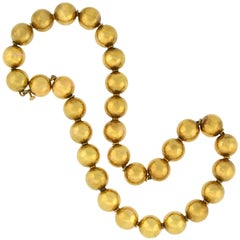 Victorian Yellow Gold Bead Necklace