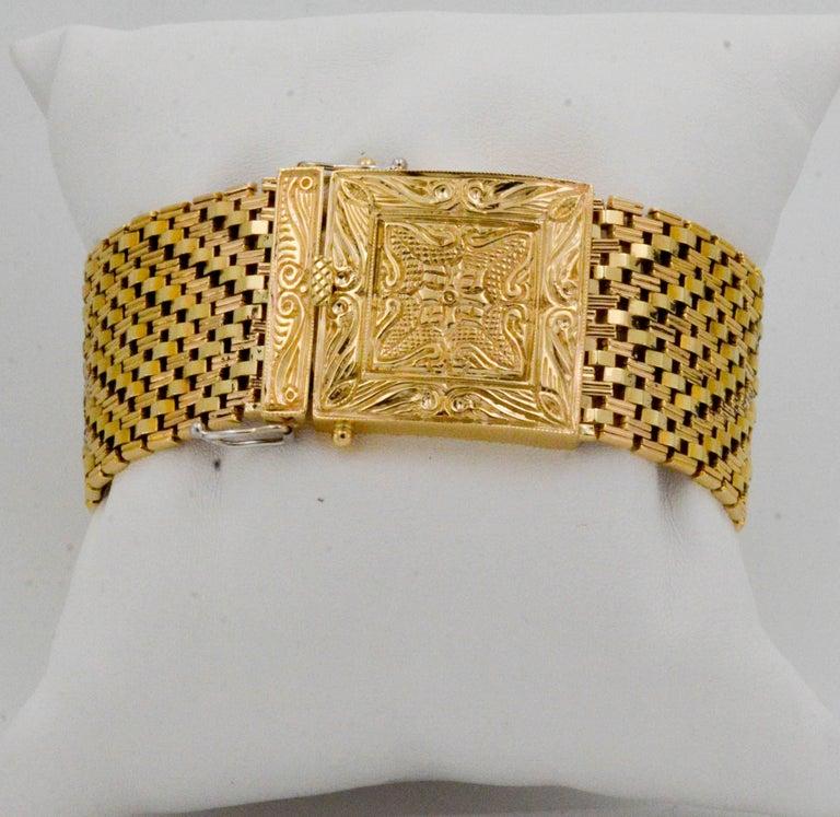 Old European Cut Victorian Yellow Gold diamond pearl Bracelet Watch / Pendant  For Sale