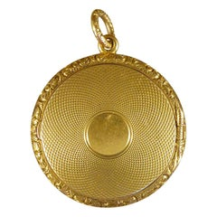 Victorian Yellow Gold Double Sided Locket 15 Carat