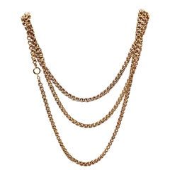 Victorian Yellow Gold Long Chain Necklace