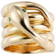 Victorian Yellow Gold Serpent Ring