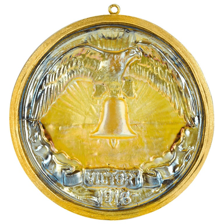 Victory Favrile Glass Medallion by Louis Comfort Tiffany & Co. For Sale