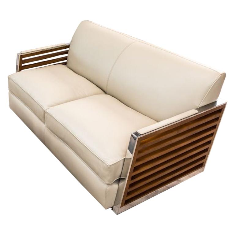 Victory Leather Sofa, 20th Century