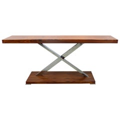 Victura Console Table Made in Italy of Palisades Solid Wood by Mobilidea