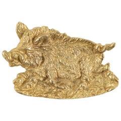 Vide Poche in Gold Gilt Representing a Wild Boar