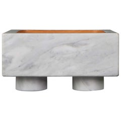 Vide-Poche in Marble and Leather