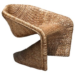 Vidigal 2 Brazilian Contemporary Handwoven Natural Fiber Easychair by Lattoog