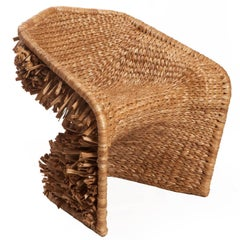 Vidigal Brazilian Contemporary Handwoven Natural Fiber Easychair by Lattoog