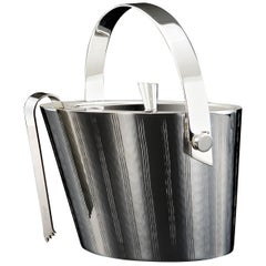 Vie Silver Ice Bucket with Tongs
