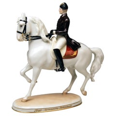 Vienna Augarten Horse Trab Albin Doebrich Model 1592 Spanish Riding School