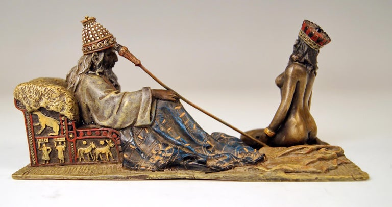 Other  Vienna Bergman Bronze Figurines King David and Bathsheba Vintage made c.1905
