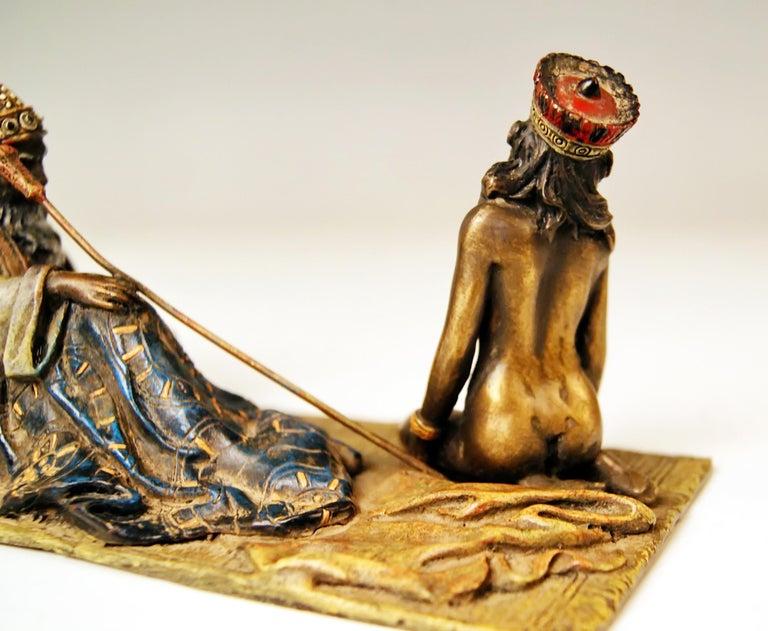 Early 20th Century  Vienna Bergman Bronze Figurines King David and Bathsheba Vintage made c.1905