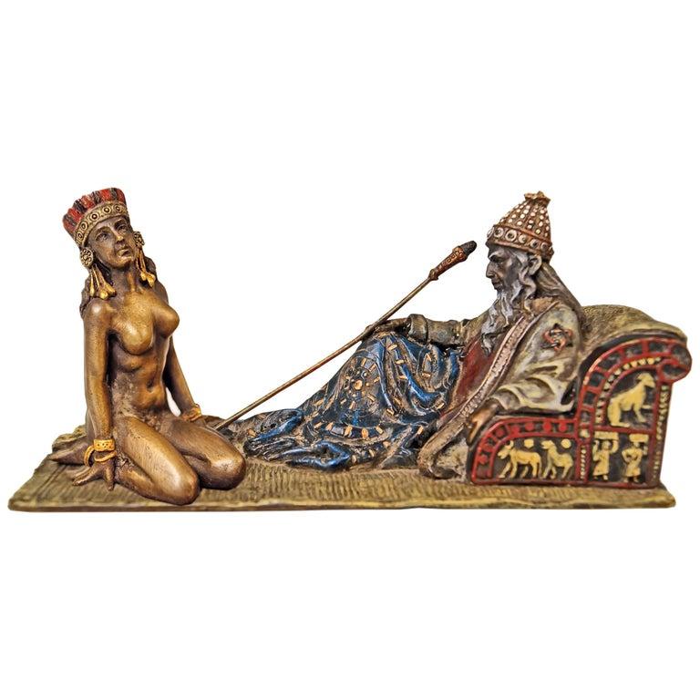 Vienna Bergman Bronze Figurines King David and Bathsheba Vintage made c.1905