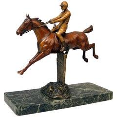 Vienna Bergman Bronze Show Jumper Jumping Horse Vintage Made, circa 1905