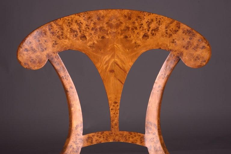 Veneer Vienna Biedermeier Chair After Josef Danhauser For Sale