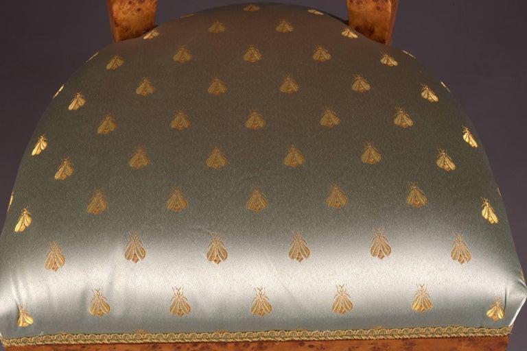 Birdseye Maple Vienna Biedermeier Chair After Josef Danhauser For Sale