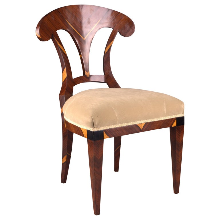 Vienna Biedermeier Chair After Josef Danhauser For Sale