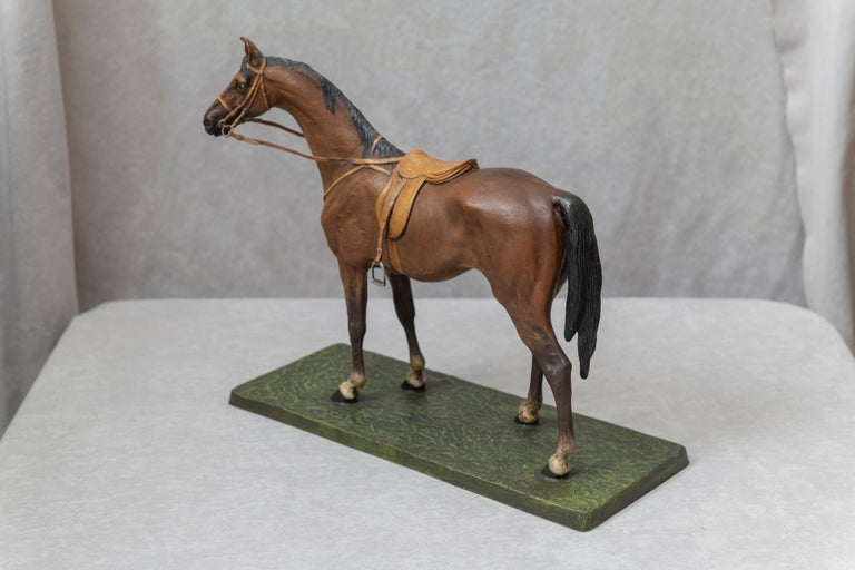 Vienna Bronze Cold Painted Horse, Signed Kauba, circa 1900 For Sale 3