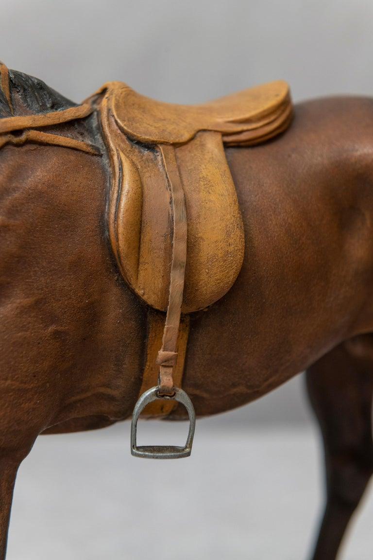 Austrian Vienna Bronze Cold Painted Horse, Signed Kauba, circa 1900 For Sale
