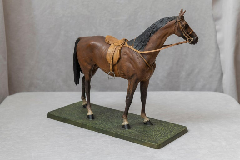 Vienna Bronze Cold Painted Horse, Signed Kauba, circa 1900 In Good Condition For Sale In Petaluma, CA