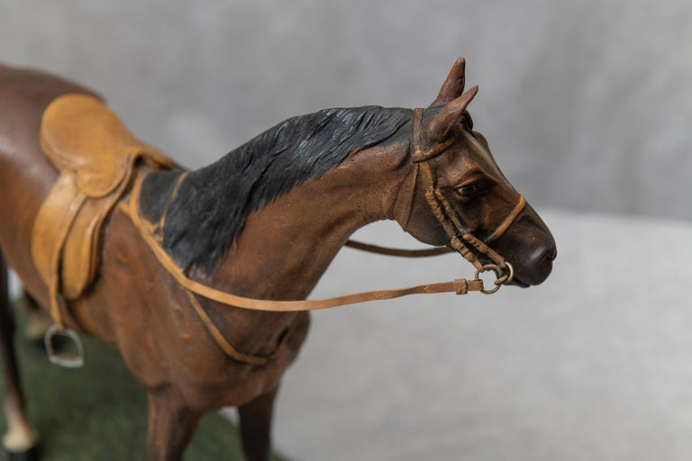 Vienna Bronze Cold Painted Horse, Signed Kauba, circa 1900 For Sale 1