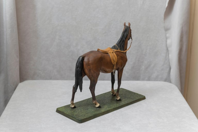 Vienna Bronze Cold Painted Horse, Signed Kauba, circa 1900 For Sale 2