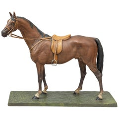 Vienna Bronze Cold Painted Horse, Signed Kauba, circa 1900