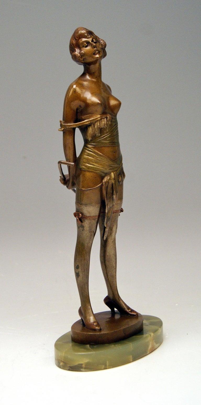 Vienna Bronze Semi-Nude Lady Underwear Riding Crop Bruno Zach, Circa 1925 At 1Stdibs-8787