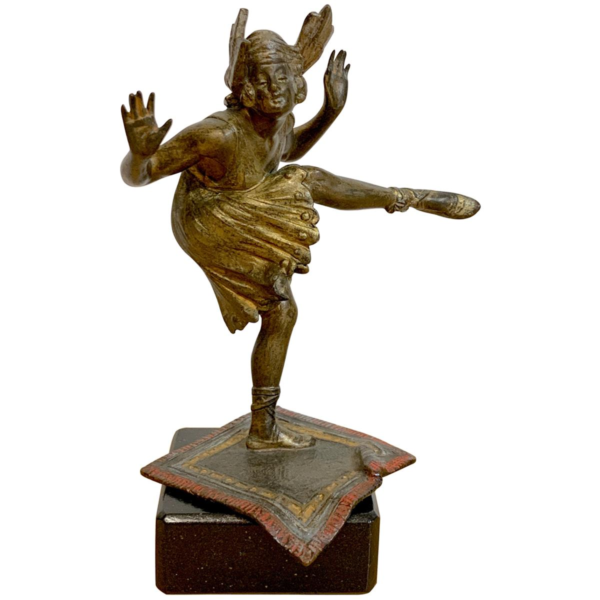 Vienna Cold Painted Bronze Dancing Flapper, Attributed to Bergman