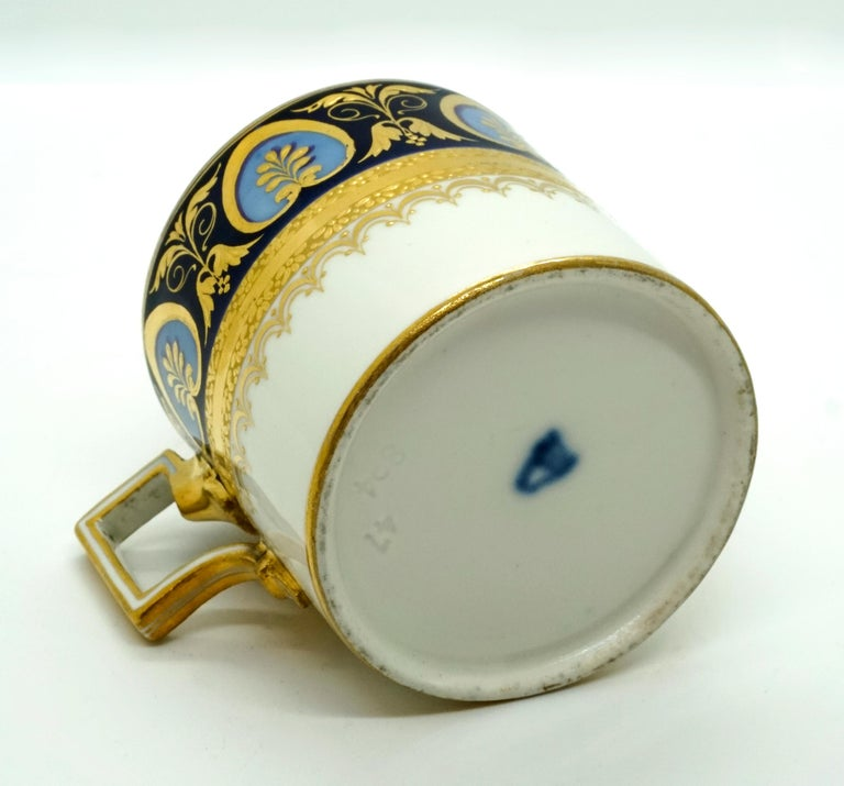 Early 19th Century Vienna Imperial Porcelain Collecting Cup Hand Painted Sorgenthal, 1804