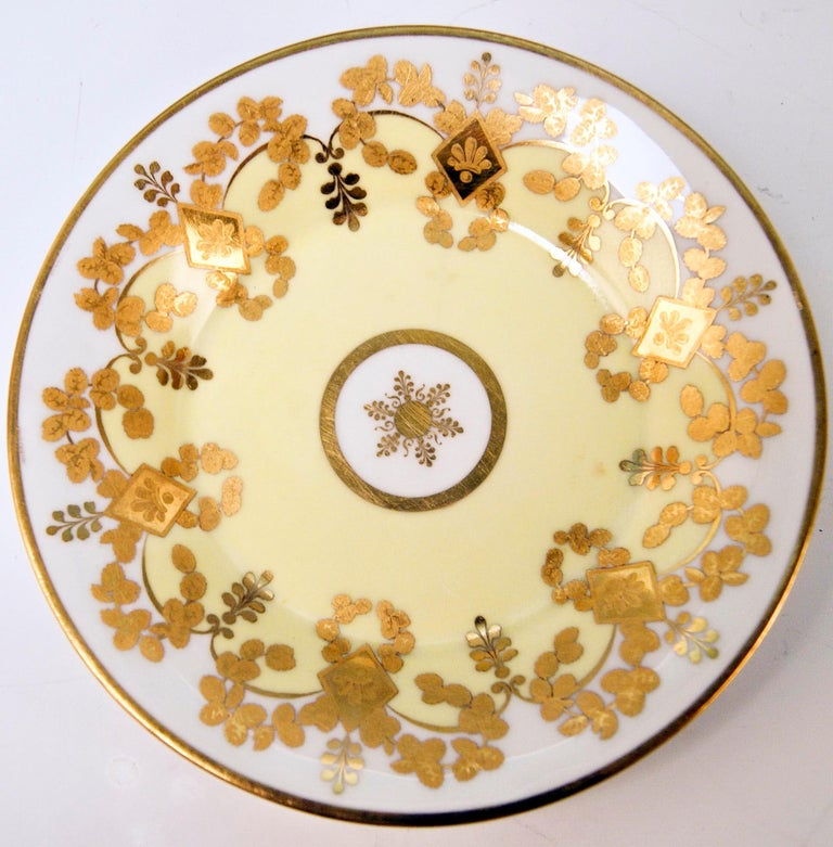 Vienna Imperial Porcelain Cup Saucer Gold Viennese Veduta Hoher Markt, 1815 In Good Condition For Sale In Vienna, AT