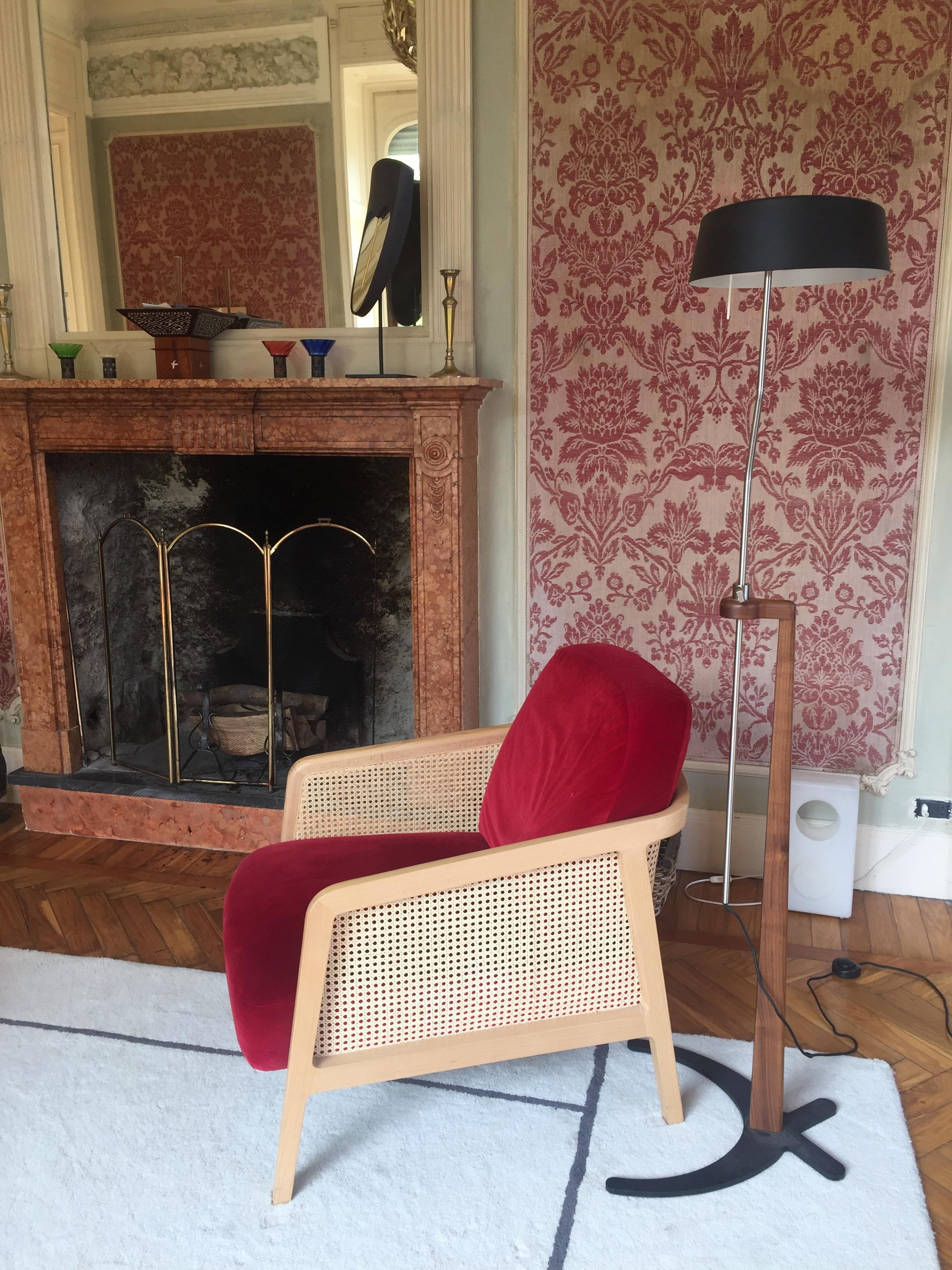 Vienna Lounge Armchair By Cole Beechwood Green Cushions Minimalist Design
