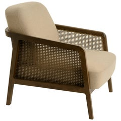 Vienna Lounge Canaletto by Colé, Beige Upholstered Cushions Contemporary Design