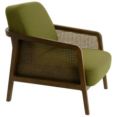 Vienna Lounge Canaletto by Colé, Green Upholstered Cushions Contemporary Design
