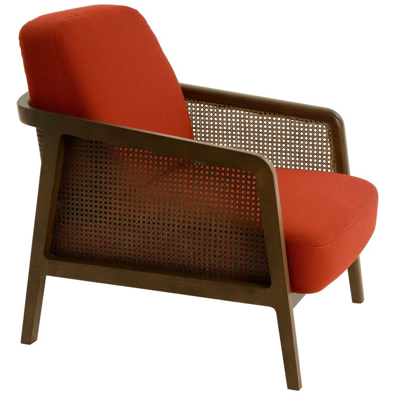 Vienna Lounge Canaletto by Colé, Red Upholstered Cushions Contemporary Design For Sale