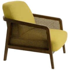 Vienna Lounge Canaletto by Colé, Yellow Upholstered Cushions Contemporary Design