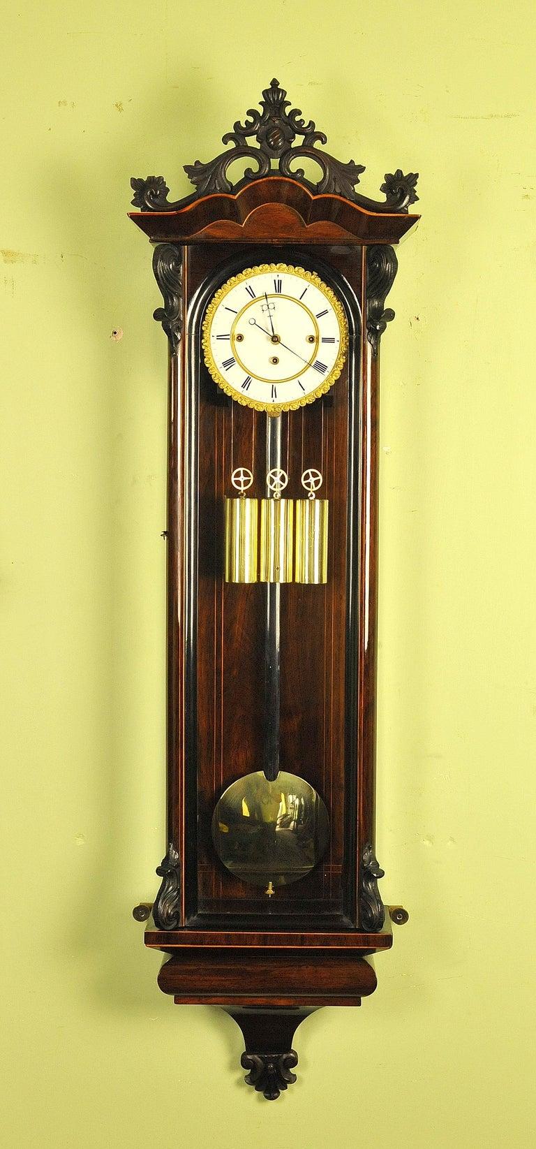 Vienna Regulator Wall Clock, Grande Sonnierre For Sale at