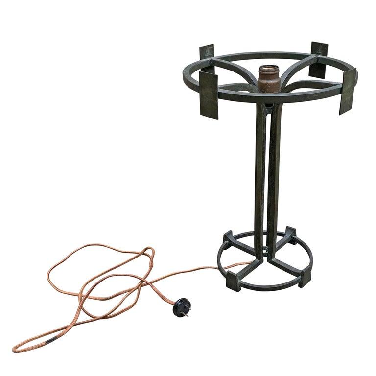 Vienna Secession Bronze Table Lamp For Sale 5
